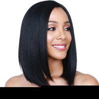 Z&F US Side Bang Wigs 14inch Black Straight Wig Medium Short...