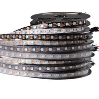 5M / Roll 5V 60LEDs / m WS2812B LED Striscia WS2812 5050 SMD RGB Nastro Pixel Light Tape, 60Pixels / m WS2811 IC built-in, bianco / nero PCB, IP20 / IP65 / IP67
