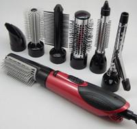 7 в 1 Горячий воздух Профессиональный волос Стилер 3 Температура 10 В / 240 В Фен и Керлинг Утюги