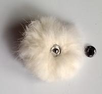 الذكية أرنب الفراء الفراء الكرة الملحقات مع زر المفاجئة المعدنية pompom للديكور مجانا وسريع التسليم