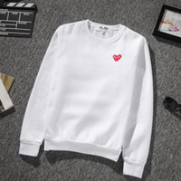 Heart shape print brand hoodies for men new fashion winter a...
