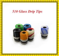 510 dicas de gotejamento pirex gotejamento de vidro dica jade dioteca bocal de aço inoxidável apto para toptank mini tanque de coroa