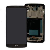 LG G2 D802 Full LCD-Display + Touchscreen-Digitalisierer mit und schwarzem Rahmen weiß