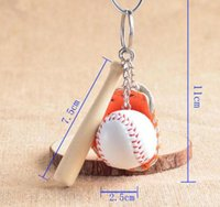 Creative 301pcs Lot Cute Baseball Shape Key Chain School Spo...