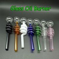 2016 all'ingrosso 7 colori vetro tubi del bruciatore di olio di vetro a buon mercato pipe di vetro colorato a buon mercato bollatore di vetro pirex bruciatore di olio di vetro del fumo del tubo di acqua del fumo Bong