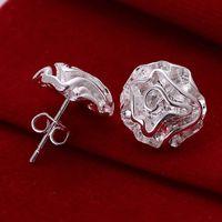 10pairs / lotfree الشحن بالجملة 925 فضة مطلي الأزياء والأزياء أقراط مجوهرات للهدايا E003