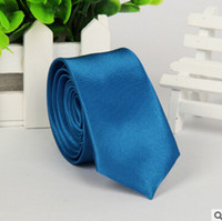 Frete grátis marinho azul laços para homens gravata de seda magro sólida moda sólida gravata e laços adornam jóias 10cm puro cor gravata