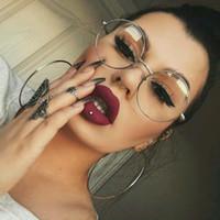 Meopia женщины мужские зрелище очки кадр прозрачный объектив оптические золотые очки Lunette VE0125