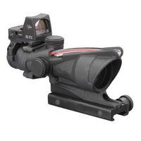 Tactical Trijicon Stile 4X32 reale fibra Fonte Duel Illuminato Mirino RMR Micro ACOG Style Cannocchiale con la micro Red Dot