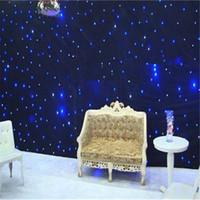 4mx8m Bluewhite الأحداث خلفية LED الستار المضاء لحفل زفاف الديكور مع بار ، ديسكو ، فندق الخ