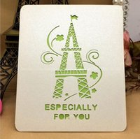 New Fashion Wedding Invitation Cards tower Style Laser Cut c...