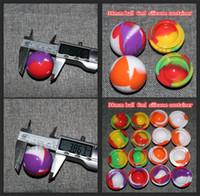 도매 실리콘 COMESTIC JAR 38mm 공 실리콘 항아리 왁스, 식품 학년 실리콘 볼 용기, 실리콘 뚜껑 용기 DHL 무료 배송