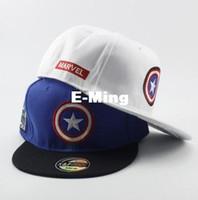 Diseñador de moda El Capitán América con una estrella Sombreros de béisbol  Hip Hop Gorras de ec4af5ed946