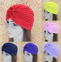 큰 새틴 보닛 터 번 Beanies Stretchy Turban 헤드 랩 밴드 Sleep Hat Chemo Bandana Hijab Pleated Indian Cap