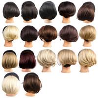 Atacado-Synthetic Hair Chignon peruca Hair Bun Bride Headwear Chignon pedaços de cabelo Bun 17 cores WQ941G