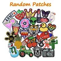 10 pcs patches aleatórios para roupas de roupa no patch de applique de transferência para bolsas jeans diy costurar em bordados adesivos