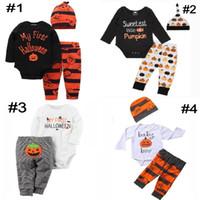 4 Styles Citrouille Halloween Costume Enfants Vêtements De Nuit Ensembles De Meubles Bébé Filles Garçons Vêtements Ensembles Tout-Petits Pyjamas Costume