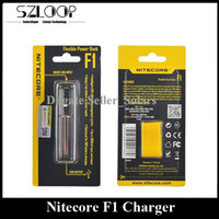 Nitecore origine F1 Chargeur 18650 Chargeur USB SIngle Chargeur Micro Voyager Copanion 500mA DC adapter 26650 18350 14500 18490 Batteries