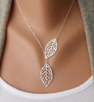 NUOVO 2020 collana donna moda semplice 2 foglie girocollo collana collana dichiarazione collana gioielli da donna