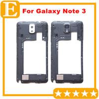 OEM pour Samsung Galaxy Note 3 4G LTE N9005 N900A Retour Moyen Cadre boîtier arrière couverture avec objectif de la caméra Pièces de rechange Noir Blanc