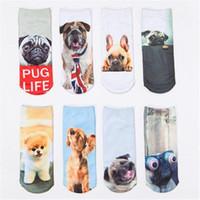 Nette 8 Farben 3D druckten Socken-Hundekarikatur-Socken-beiläufige Kunst 3D trifft niedrige Kindkarikatur-Baumwollschuhe ouc1077 hart