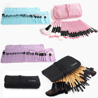 Gros-VANDER 32pc pinceaux de maquillage Set Pro Cosmetic Brush Fondation Sourcils Ombres Eyeliner Lip Kabuki Make Up Outils Kits Pouch