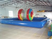 (Fachgeschäft) Großes aufblasbares Schwimmbecken im Freien, aufregende aufblasbare Planschbecken, Kinder und Schwimmbecken für Erwachsene, viele Größen
