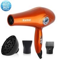 Venta al por mayor-Anion Pantalla LED Salon Professional Secador de cabello Blow con boquillas secador de viaje dos velocidades de control de frío o caliente de alta calidad