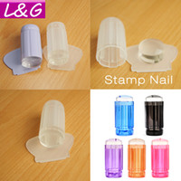 1 Piece 2016 Milky White New 2. 8CM Transparent Stamp Nail Ar...
