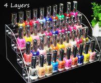 4 Ebenen Multifunktions Make-up Kosmetikständer Klar Acryl Veranstalter Mac Lippenstift Schmuck Display Halter Lippenstift Nagellack Rack