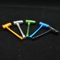 Heißer Verkauf Hammer Metallrohr Jamaican Reggae auf dem Aluminiumrohr Pfeife Metall kleines Rohr