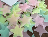 100pcs Set Stars Wall Stickers Decal Glow In The Dark Baby K...