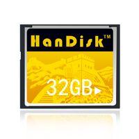 HanDisk 100 % 실제 용량 플래시 CF 카드 1백28기가바이트 64기가바이트 32기가바이트 고속 CF 메모리 카드 1000X 고속 컴팩트 적용 디지털 카메라