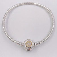 1e17cc587 Wholesale pandora bracelets resale online - Authentic Sterling Silver Beads  Moments Two Tone Bracelet With P