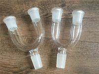 adattatore in vetro 14mm 18mm femmina maschio Adattatore per bicchiere doppio adattatore bicolore per opzione per tubi acqua narghilè