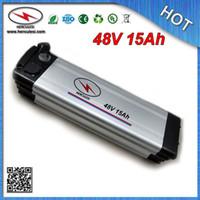 Batería de litio al por mayor de la venta al por menor 48V 15Ah para la batería de litio eléctrica de la bici 48V con el cargador 13S 15A BMS + 2A de la caja de aluminio