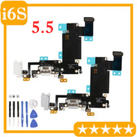 10PCS New For iphone 6s 4.7'' 6s Plus 5.5 inch Headphone Audio Dock Charger Charging USB Port Connector Flex Cable Replacement