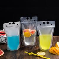 450ml transparenter selbstversiegelter Plastikgetränkebeutel DIY Getränkebehälter-Trinkbeutel Fruchtsaft-Nahrungsmittelaufbewahrungsbeutel