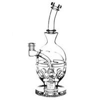 """2016 팹 달걀 유리 봉 9.5 """"인치 스컬 봉 Faberge 에그 물 파이프 유리 두 기능 건조 그릇 석유 장비 캡 캡 14.4 mm 조인트"""