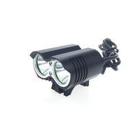 [2 بطاريات مشمولة] مصباح الدراجة LED 5000 Lm 2 * C-XM-L T6 مصباح الدراجة LED المصباح الأمامي 8.4V 18650 شاحن بطارية حزمة