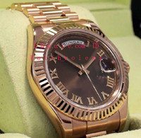 Mens Basel Version Automatic Day- Date 41mm 218235 18K Rose G...