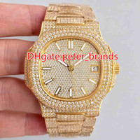 NEW Full iced out hip hop rappers watch automatic best grade...