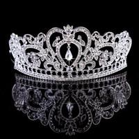 Gerçek Görüntü Kadınlar Gümüş Altın Kristal Headpieces Su Damlası Taç Tiaras Hairwear Düğün Nedime Parti Gelin Takı Aksesuarları