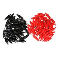 Morsetto a morsetto isolato nero rosso Morsetto a connettore morbido Cavo di collegamento rivestito elettrico Cavo a coccodrillo Morsetto a coccodrillo
