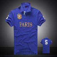 Wholesale-2016 Sommer heißer Verkauf Polo Shirt USA amerikanische Flagge Marke Polos Männer Kurzarm Sport Polo 309 # Man Coat Drop Freies Verschiffen