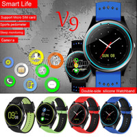 Bluetooth Smart Watch V9 С Камерой Smartwatch Шагомер Здоровье Спортивные Часы Часы Мужчины Женщины Smartwatch Для Android Силиконовой Лентой Красочные