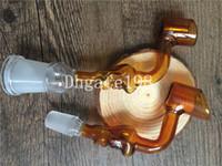 Kafatası Borular Kavisli Mini 14mm 18mm kadın erkek glas kafatası kafatası borular için Eller Üflemeli Recycler r ...