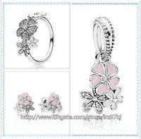 Orecchini pendenti con ciondoli in argento sterling 925 e orecchini pendenti con scatola in argento per collane-Poetic Blooms