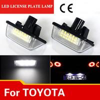 2X автомобилей LED номерного знака огни 12 В SMD3528 LED номерного знака лампа комплект для Toyota Crown S180 венчик Vios Previa аксессуары