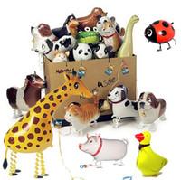 pet balonlar çocukların oyuncakları hayvanları yürüyen hayvan balonları alüminyum folyo balon hayvanların 1000X Yürüyüş balon evcil Hibrid modelleri,